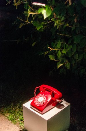 The red rotary dial phone