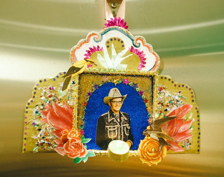 Update from The Builders - rhinestone cowboy shrine